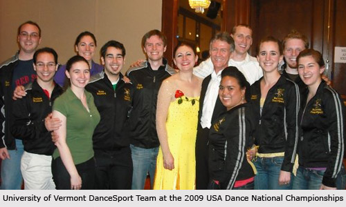 UVM Team at the USA Dance 2009 National Championships